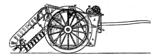 1843 Whitworth's Sweeping Machine