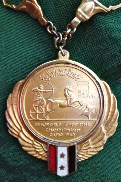 Gold medal close up