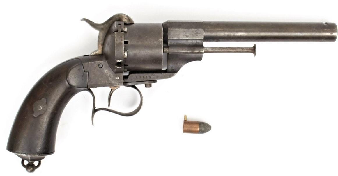 револьверы лефоше фото украшенные рисунком это